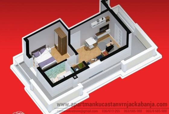 apartman 13 27 m2 sa terasom